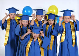 children graduating preschool