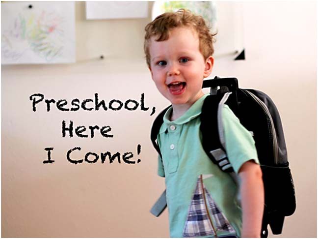 kid starting preschool