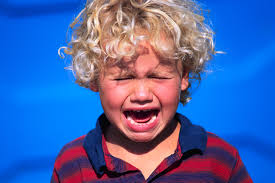 crying child having tantrum